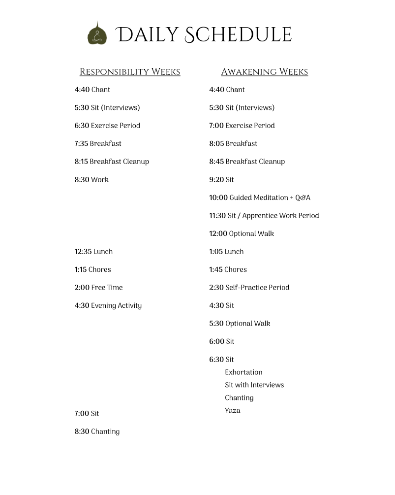 MAPLE Daily Schedule